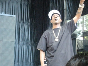 Rakim enjoying the music